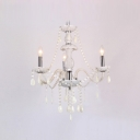 Romantic and Chic White Crystals 3-Light 21.6