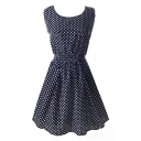 All Over Tiny Polka Dot Sleeveless Dress