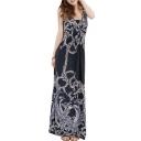 Women's Floral Maxi Skirt One-piece Dress Beach Long Dress Slip Skirt