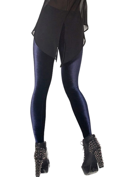 Dark Blue Velvet Leggings - Beautifulhalo.com