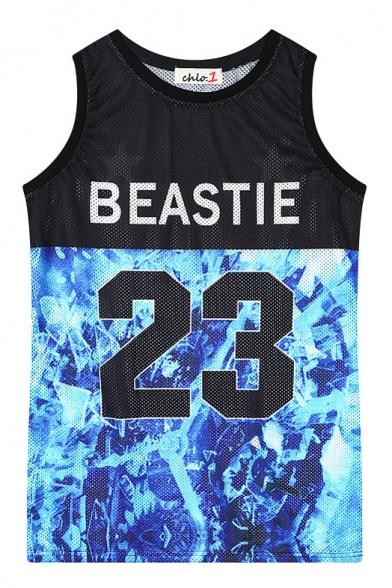 Beastie 23 Print Sports Style Tanks