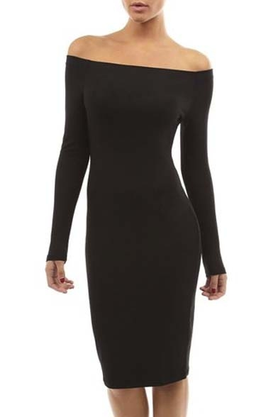Women's Off Shoulder Long Sleeve Dress
