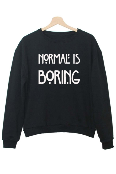 Women's Fashion Letter Print Long Sleeve Sweatshirt