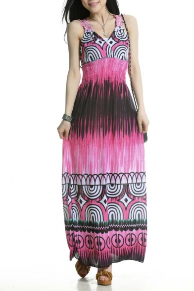 Empire Waist Summer Prints Maxi Dress
