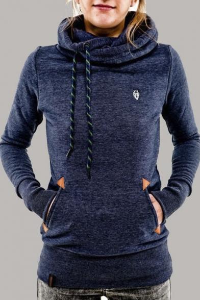 Women S Casual Thick Hooded Fleece Sweater Sweatshirt