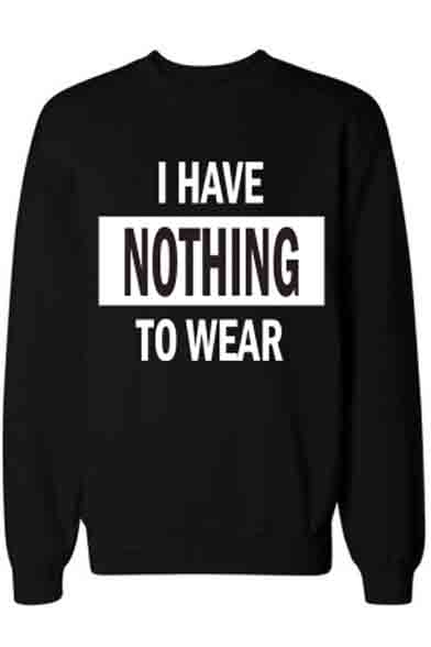Fashion Letter Print Mock Neck Long Sleeve Casual Pullover Sweatshirt
