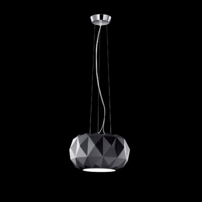 Round Diamond Shaped Glass Mini Pendant Light