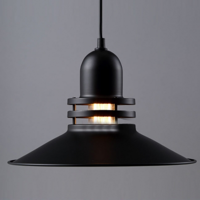 Industrial Country Style Black Industrial Vintage Large Pendant Lights