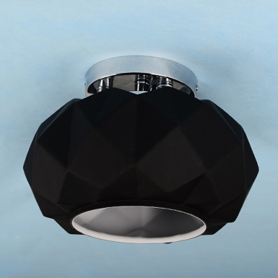 shaped glass to ceiling light