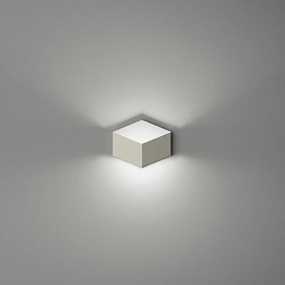 soft and chic white metal cube designer mini wall light in brilliant design