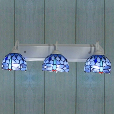 Fashion Style Wall Sconces, Blue Tiffany Lights - Beautifulhalo.com