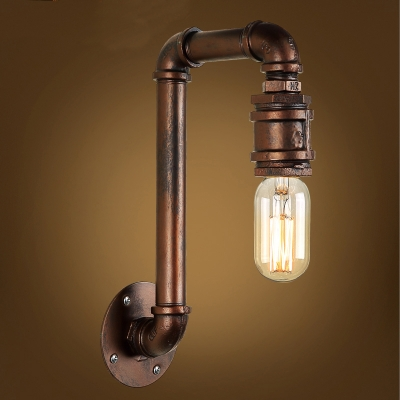 12 Height Aged Copper Finish Sconce Wall Lamp - Beautifulhalo.com