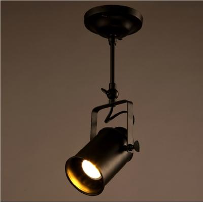 single spotlight close to ceiling light in black finish ceiling mounted spot light