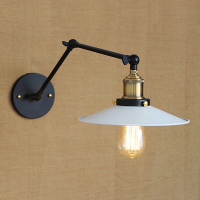Wall Lights With Adjustable Arms : Single Light Wall Sconce with Adjustable Arm - Beautifulhalo.com