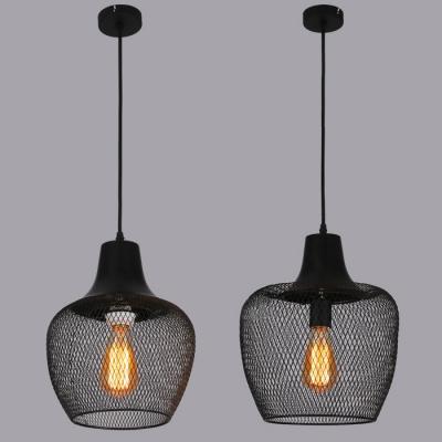 matte black 1 head foyer pendant lighting with mesh shade black pendant lighting