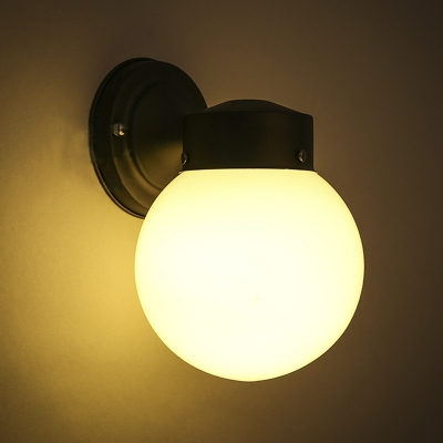 Round Ball Wall Lights : Globe Shape Single Light Wall Lamp - Beautifulhalo.com