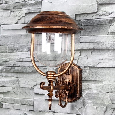 Adorable Bronze 9 Inches Wide Solar LED Decorative Garden Wall Light with Unique Hat Design ...