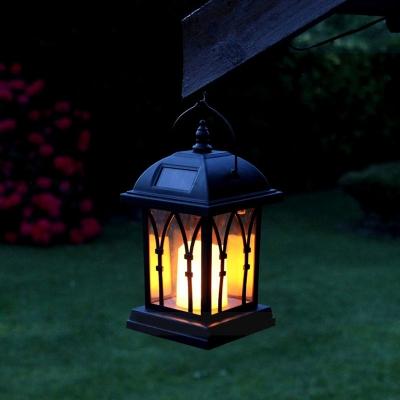 Mission Style Warm White LED Solar Lantern 8 H Portable