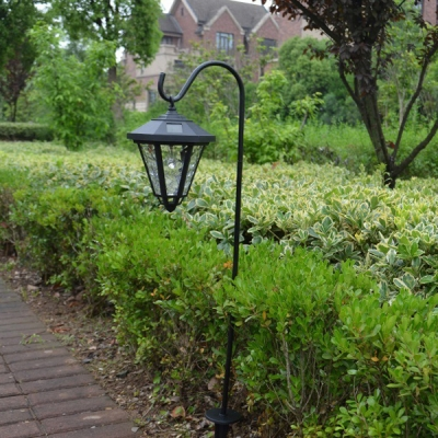 Vintage black 34 inches high solar powered led decorative - Decorative garden lights solar powered ...