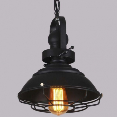 Cool Black 11 W Single Light Pendant Light With Cage