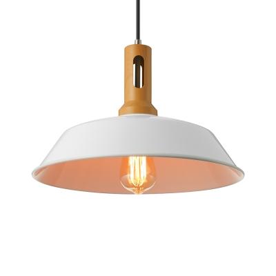 simple vintage 1 light indoor warehouse barn style pendant