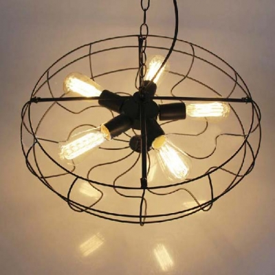 Industrial Style Novel Foyer Ceiling Fixture In Black