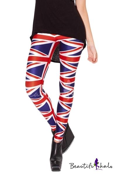 Buy Flag UK Print Skinny Elastic Leggings