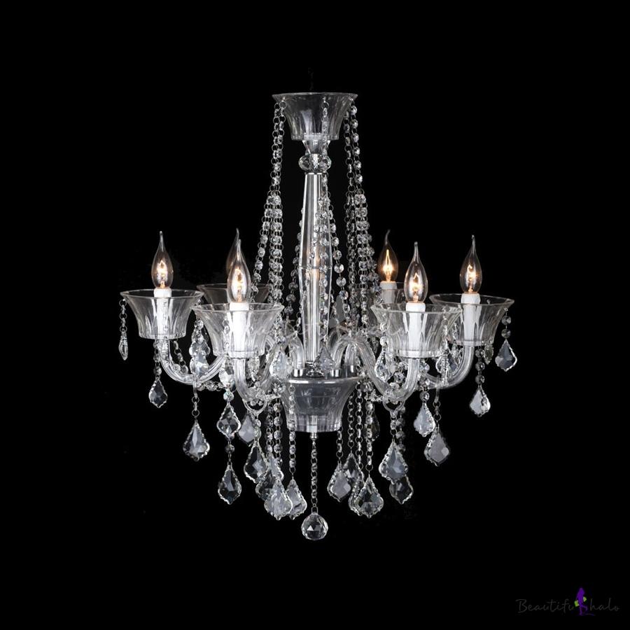 Buy 3 Light Crystal Chandelier Floral French Lustre