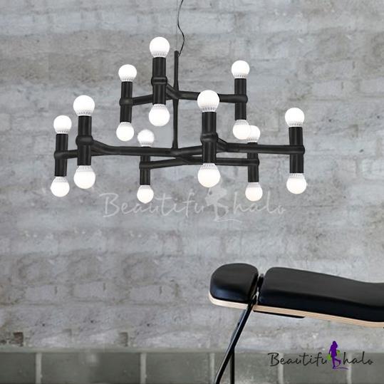 Buy Medium Modern White Crown Suspension Pendant Light
