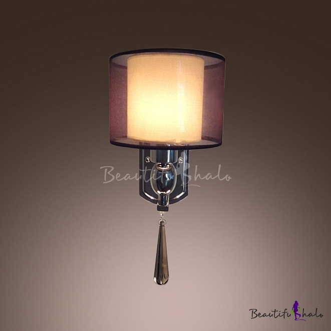 Buy Glamorous Contemporary Wall Sconce Adorned Faceted Crystal Makes Great Decor Element