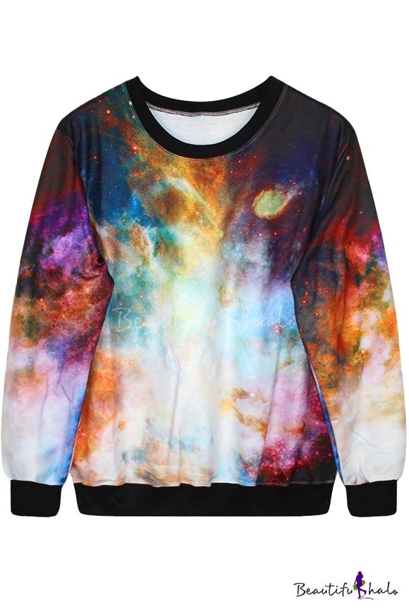 Buy Psychedelic Space Print Sweatshirt