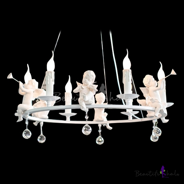 Buy Amazing Resin Angles Accents Round Band Chandelier Light Falling Bright Crystal Balls
