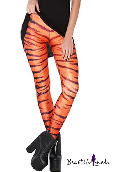 Buy Stripe Tie Dye Print Elastic Mid Rise Skinny Leggings