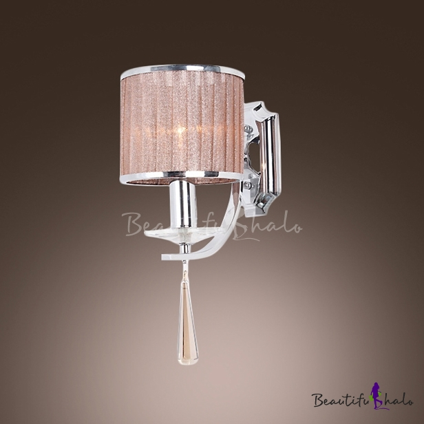 Buy Sparkling Modern Wall Sconce Adorned Faceted Crystal Makes Great Decor Element