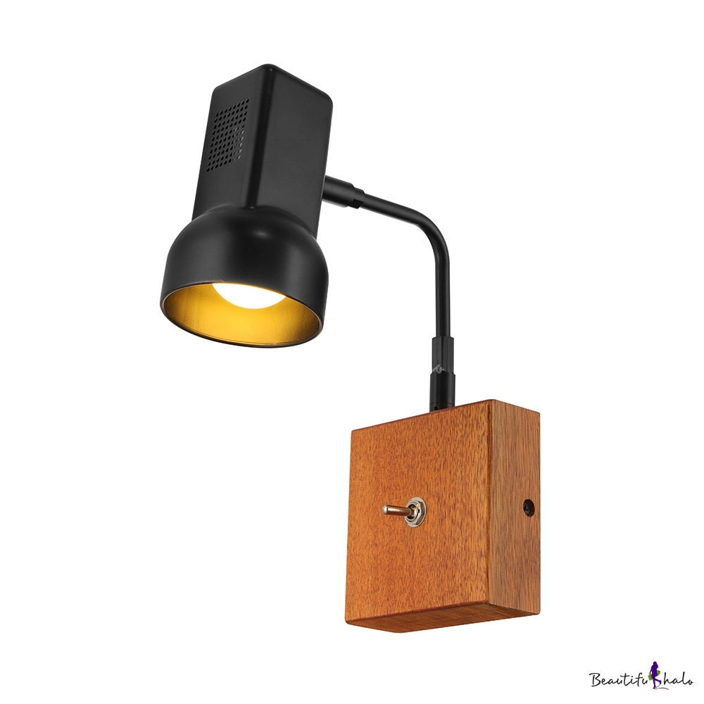 Buy Swing Armed Vintage Wall Sconce Wooden Base