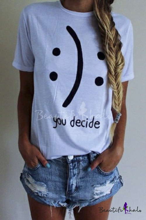 Buy Basic Letter Print Graphic Tees