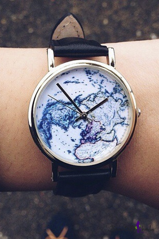 World Map Women 39 s Watches