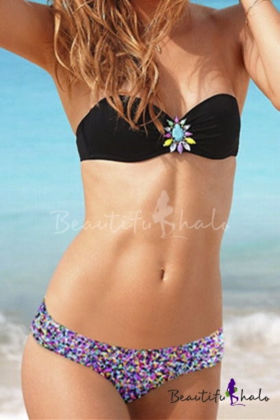 Buy Hot Bandeau Bikini Set Swimwear