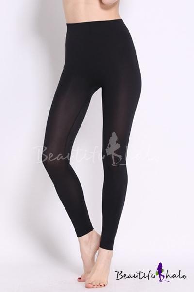 Buy Fashion Women Plain High Waist Sheer Perfect Fit Ankle/Crop Leggings