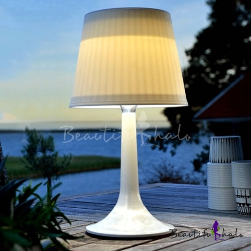 Outdoor Table Lamp Led: Graceful 14'' H Solar Powered LED Wireless Outdoor Indoor