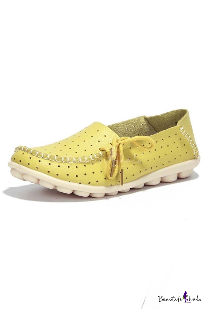 Buy Women's Driving Shoes Lace-Up Loafers Flats