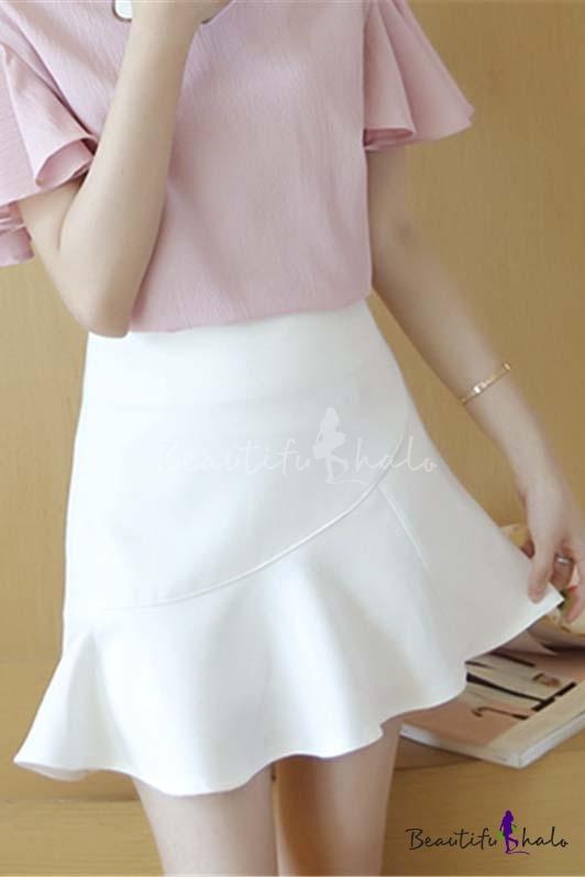 Buy Rolled Hem Skirt