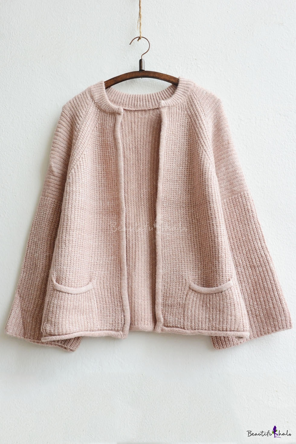 Buy Women's Front Pocket Round Neck Knitwear Cardigan