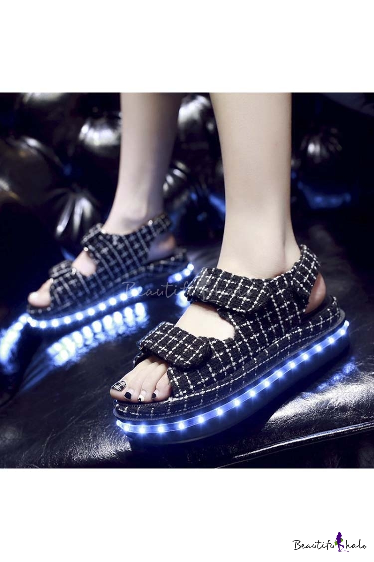 Buy Popular LED Shoes Luminous Flat Sandals