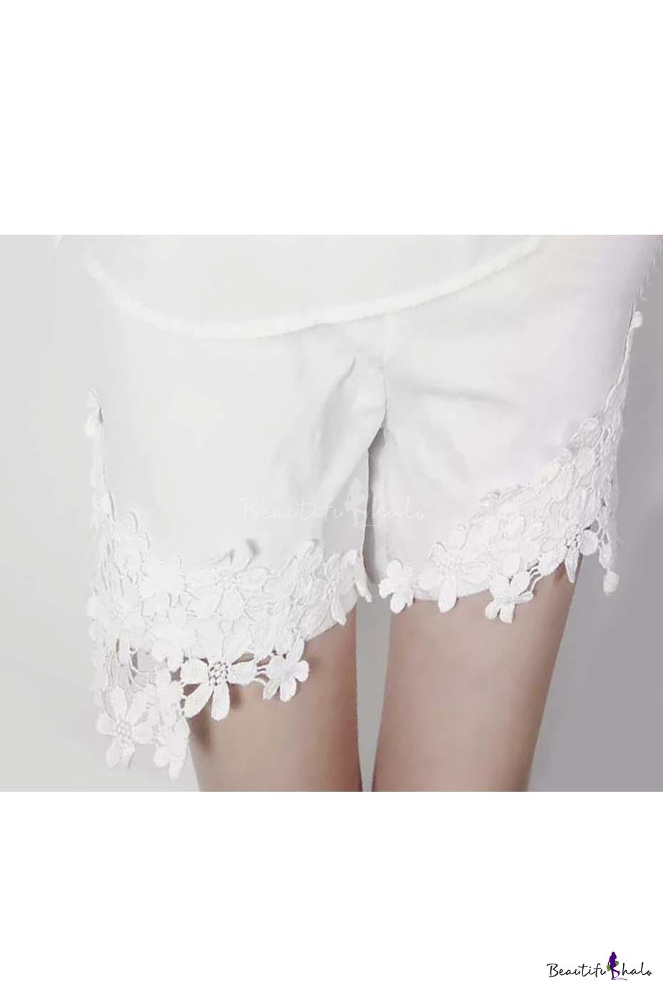 Buy Lace Trim Shorts