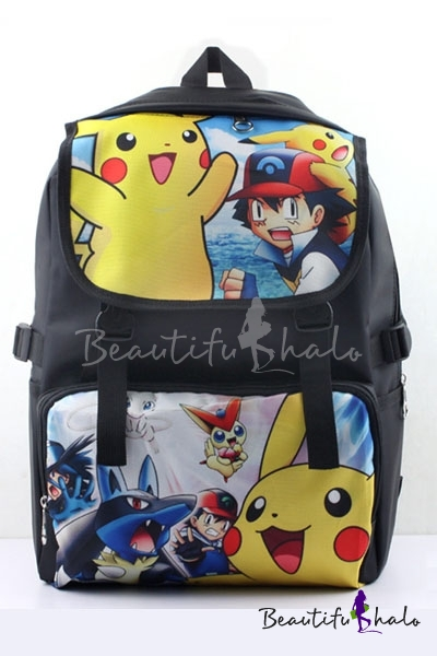 Buy Popular Pikachu Game Character iMonster Pokemon Go Cartoon Pattern Casual Young Style Backpack/School Bag/Travel Bag
