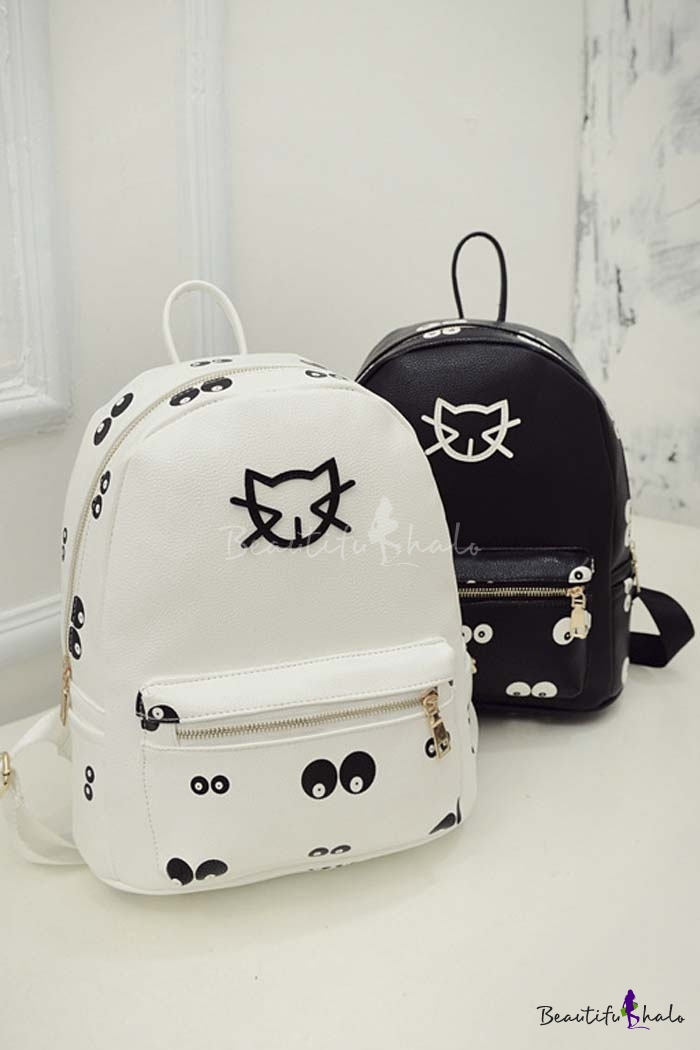 Buy Fashion Young Style Cat Eye Pattern School Bag/Travel Bag Outdoor Backpack