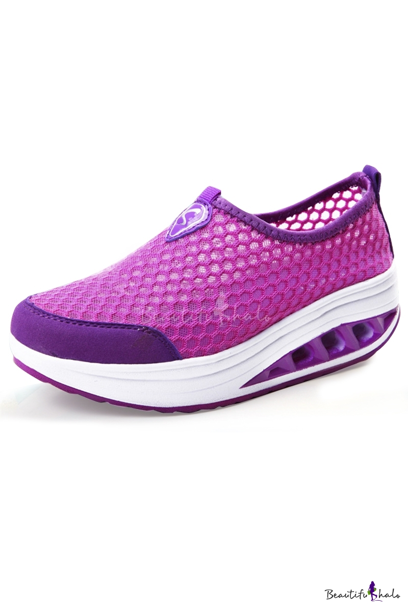 Buy Women's Fashion Breathable Sneakers Hollow Platform Sport Shoes