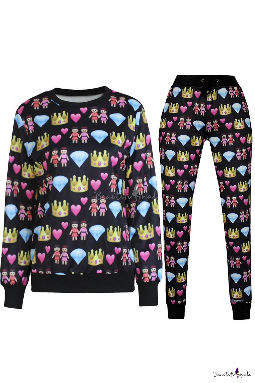 Buy 3D Emoji Printed Teen Jogger Pants Sweatpants Sweatshirts S-XL
