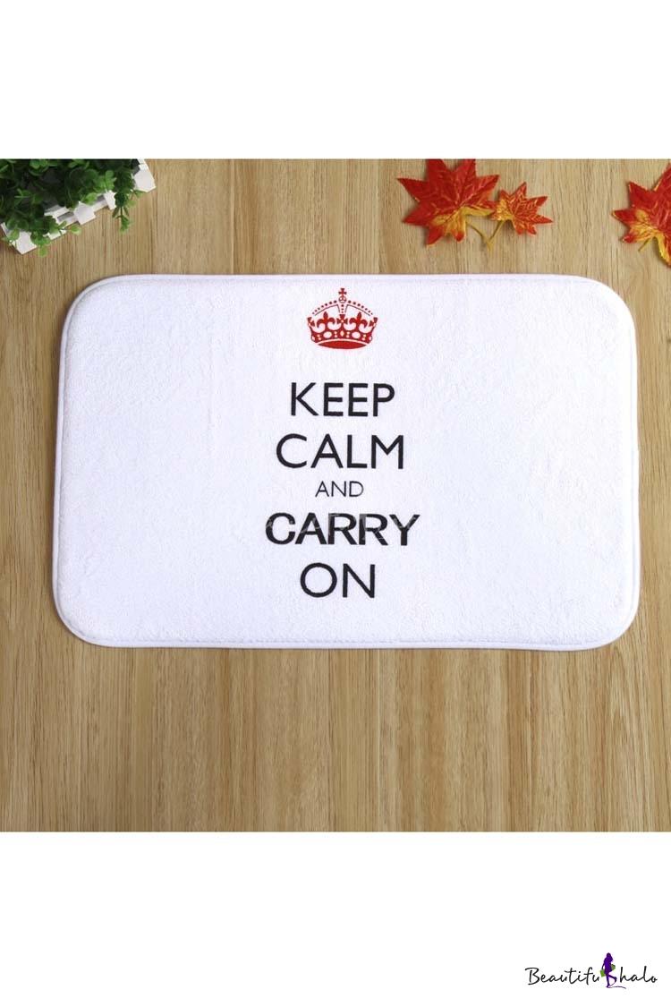 Buy Keep Calm Carry Doormat Indoor/Front Door/Bathroom Mats Rubber Non Slip